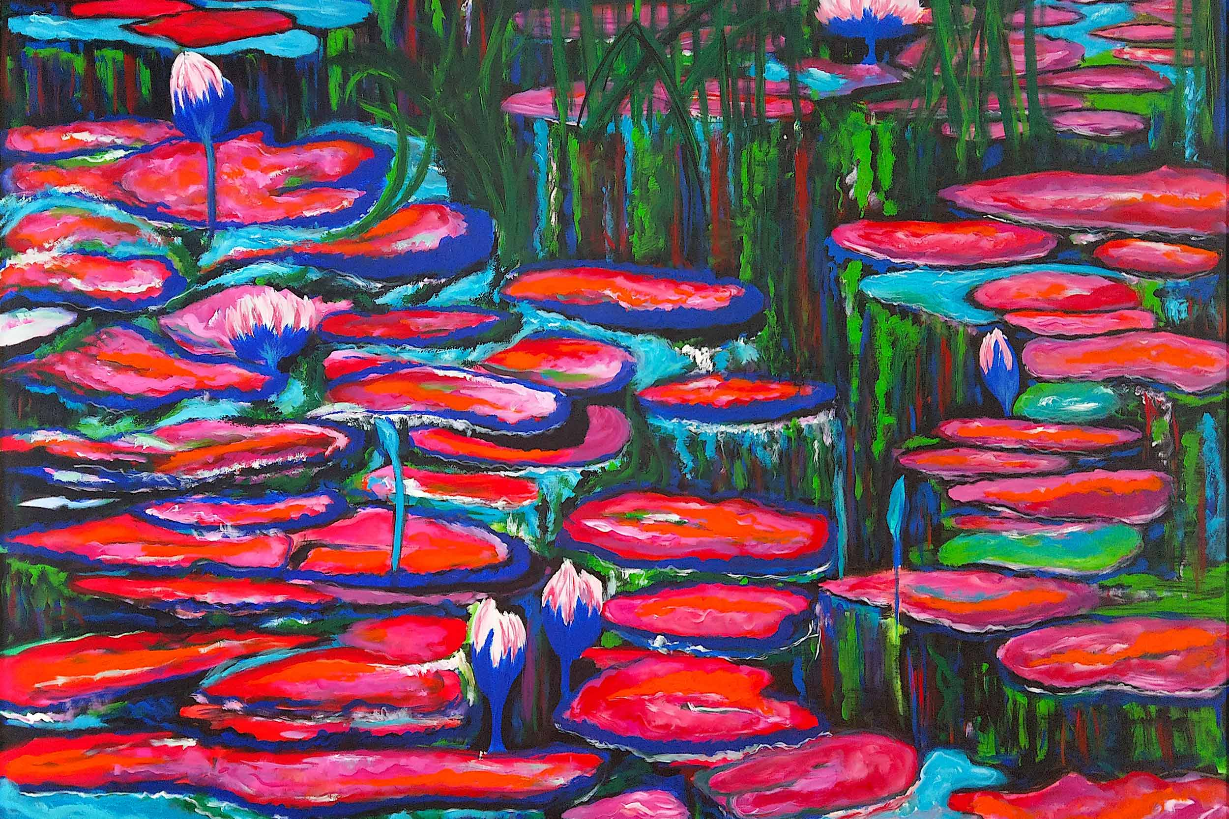 Cornelia Hagmann Contemporary Artist Eternety Water Lilies Painting Artwork